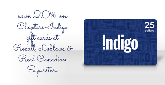 chapters indigo gift card for kobo ebooks