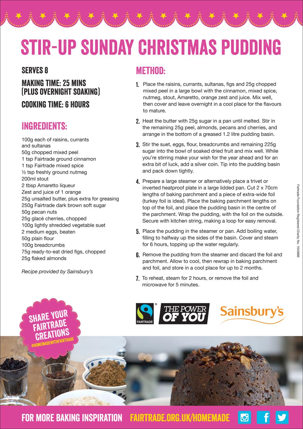 fac ebook xmas recipes for plum pudding fruit