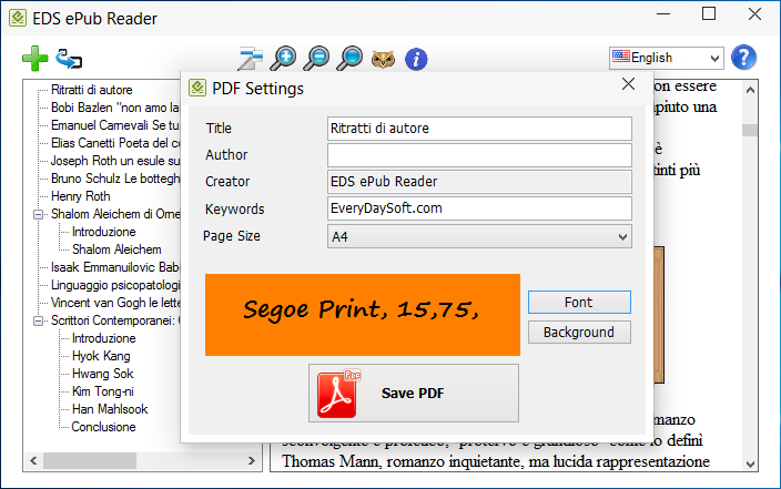 epub reader converter to pdf