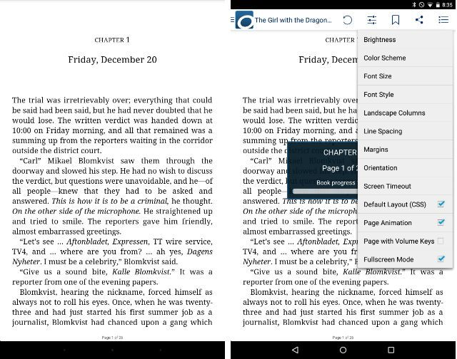 can android ebook reader read mobi files