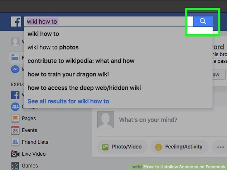 how to unfollow on fa ebook