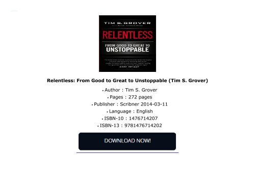 relentless tim grover ebook free download